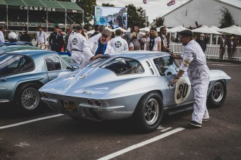 '63 Chevrolet Corvette Stingray looking sharp, Goodwood Revival.