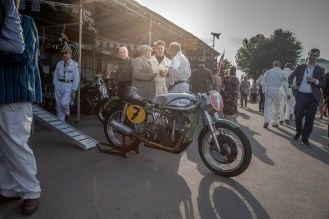 Sun setting over this lovely 1952 Norton Daytona Manx, Goodwood Revival.