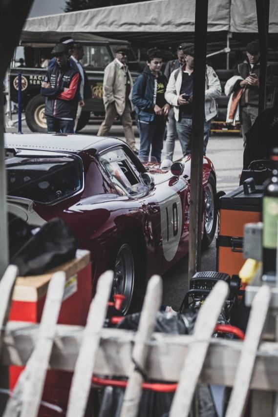 Ferrari in Goodwood Revival paddock