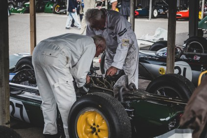 Mechanics in the Goodwood Revival paddock