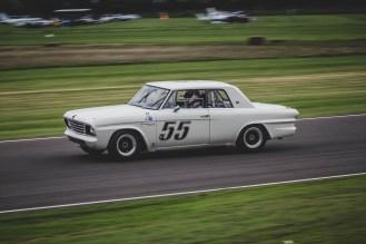 White Studebaker Lark Daytona 500 racing car