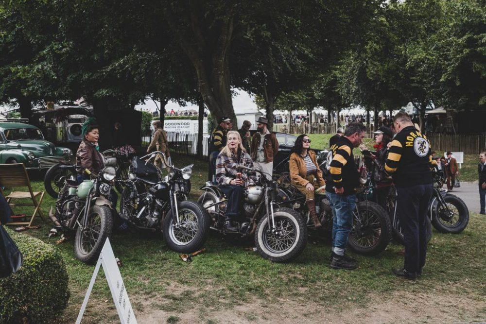 Vintage Harley Davidson motorcycle club