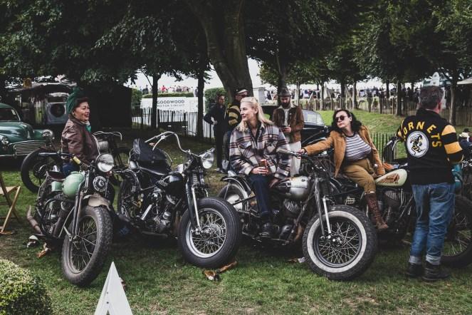Vintage motorcycle club display