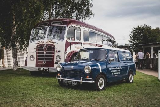 Classic 1950's bus and Mini van.