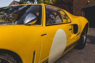 Yellow Ford GT40 details