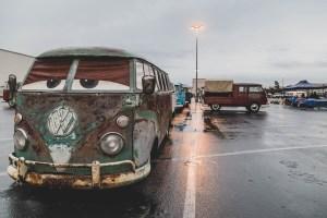 Sad looking split bus
