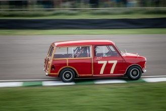 Red Mini Countryman racing car