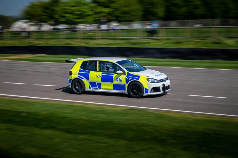 VW Golf police race car