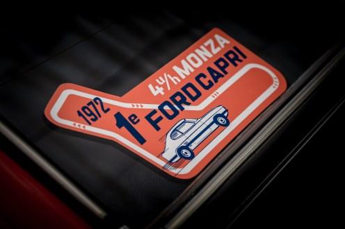 1972 4-hour Monza race sticker in car window