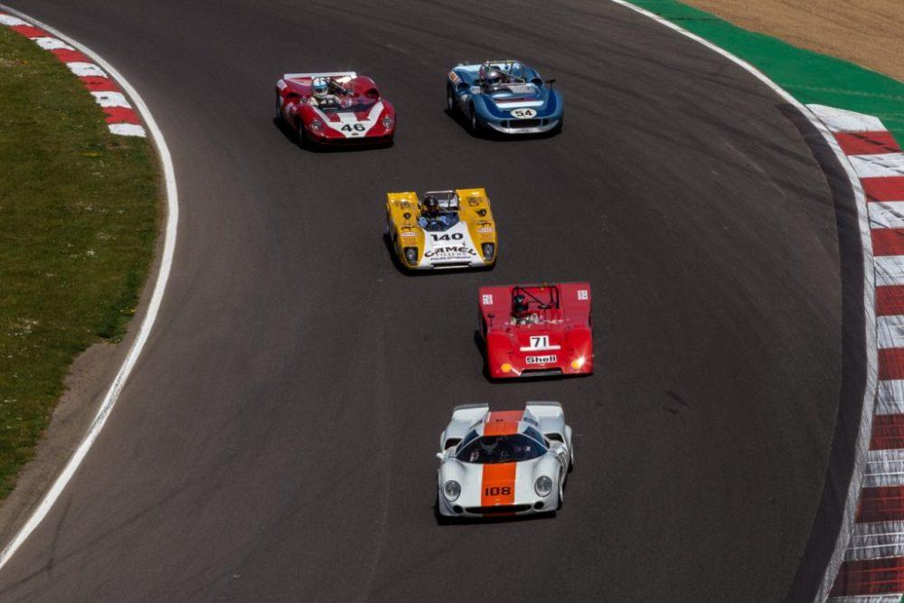 Classic sports cars racing