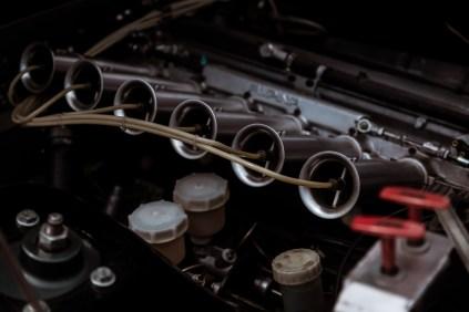 Fuel injectors on race car engine