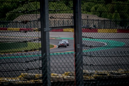 Two Porsche 2L Cup racing cars