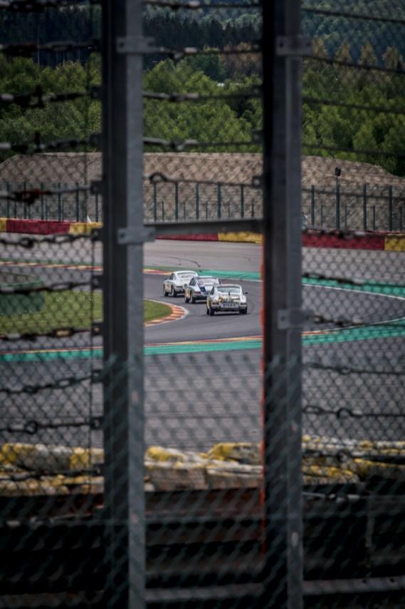 Three Porsche 2L Cup racing cars