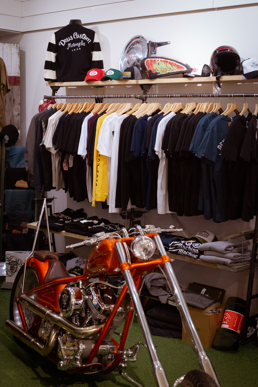 Rack of t-shirts available at Krazy Horse London