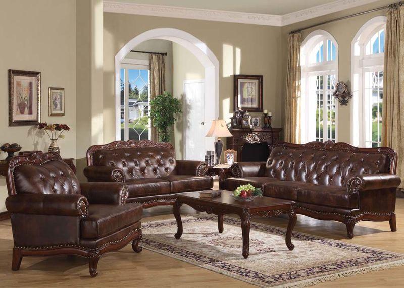 Birmingham Formal Leather Living Room Set