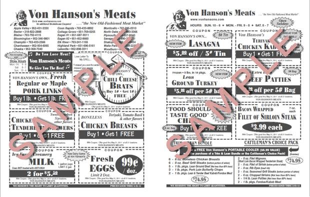 von hansen coupons shakopee mn