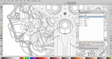 detail of all the individual shapes in inkscape