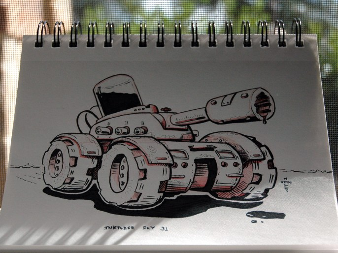 Inktober Assault Tank