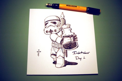 Inktober Ink Trooper