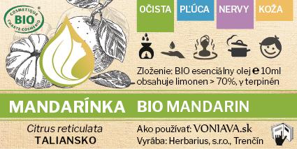 EO Organická MANDARÍNKA etiketa Voniava