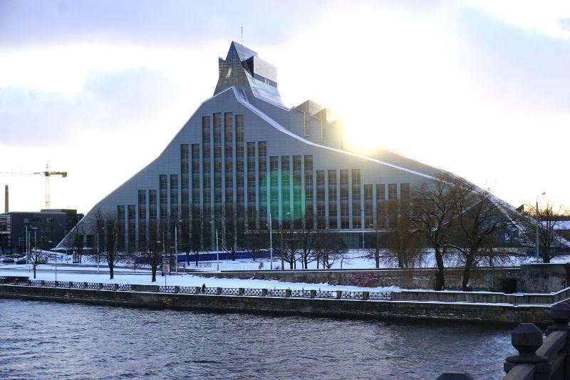 Düna in Riga - Nationalbibliothek
