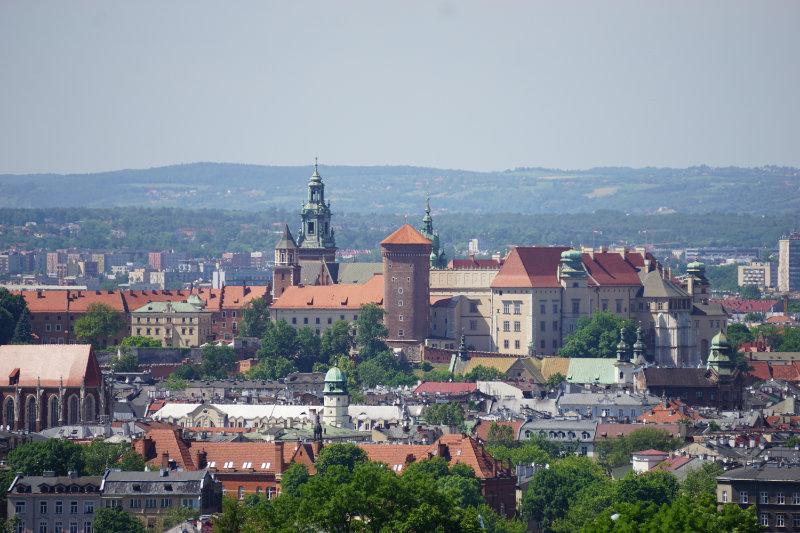 Blick zum Wawel vom kostenlosen Aussichtspunkt Krakau