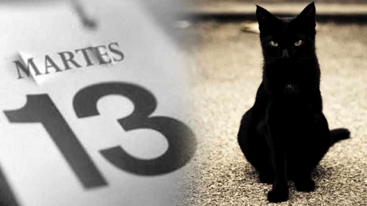 Martes 13 y gato negro