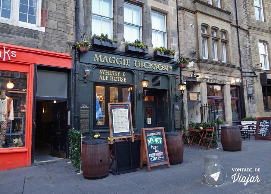 Pubs de Edimburgo - Maggie Dicksons Pub em Edimburgo a lenda da mulher enforcada