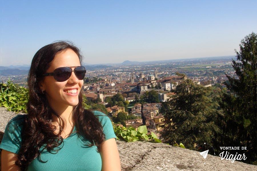 O que fazer em Bergamo - Vista da Citta Alta