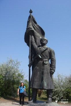 Budapeste - Estatua comunista no Memento Park