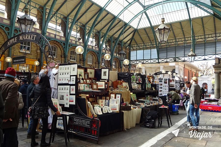 Londres Covent Garden - feirinha Apple Market
