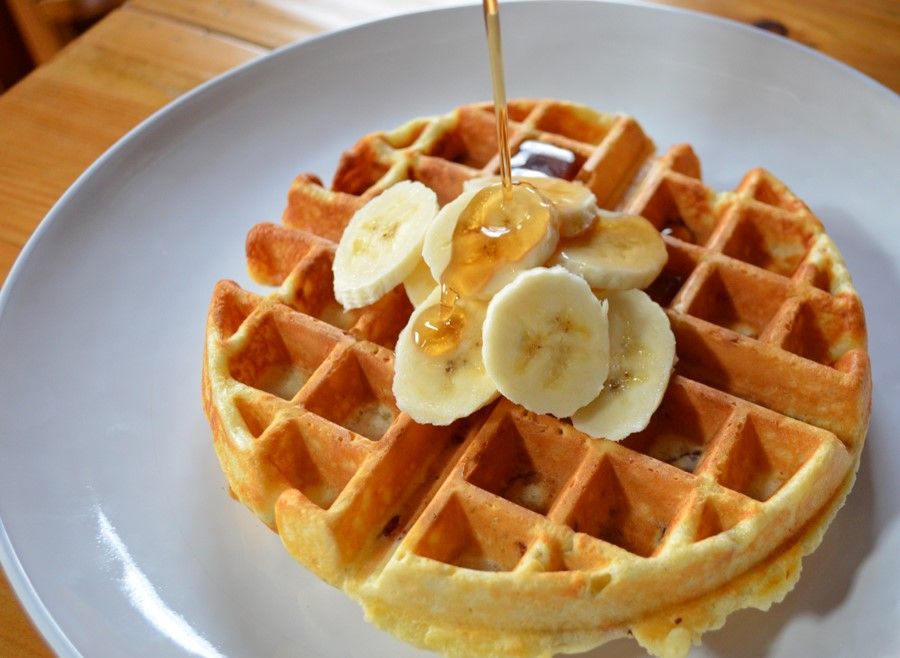 Waffle com maple syrup - foto Meredith Laurence