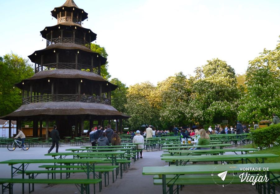 Munique - Englischer Garten - Torre Chinesa