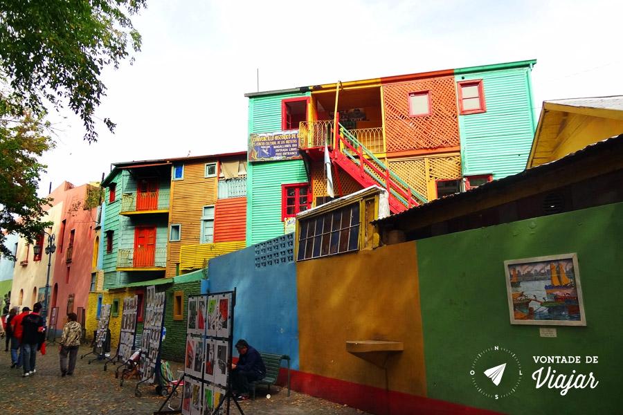 La Boca - Rua com artistas no Caminito