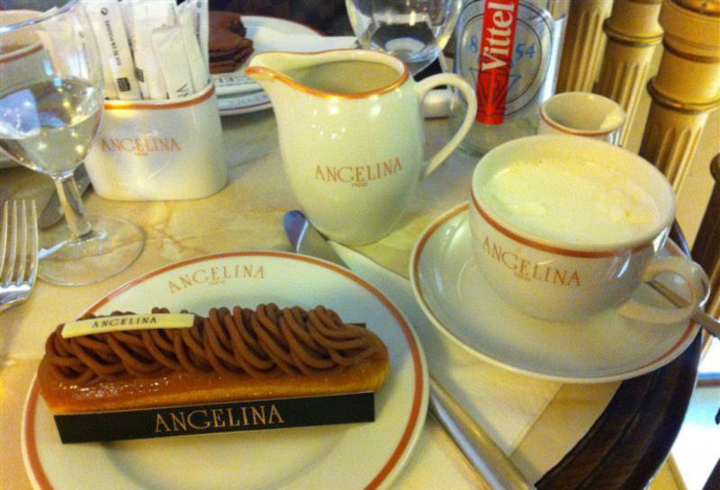 Paris chic - Cafe e doce no Angelina