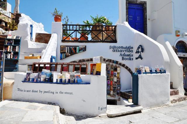 Livrarias mais bonitas do mundo - Atlantis Books - Santorini