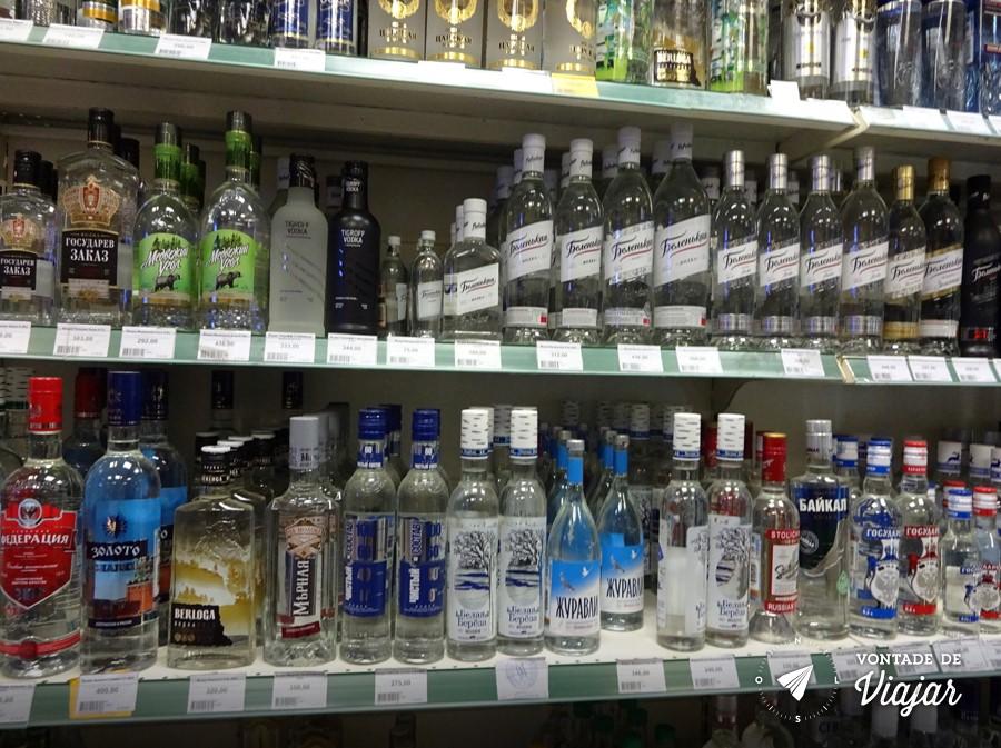 Dicas para viajar pela Russia - Mercado vodka