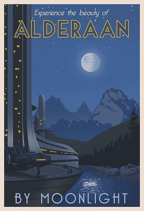 Poster de viagem - Star Wars Alderaan - Steve Thomas