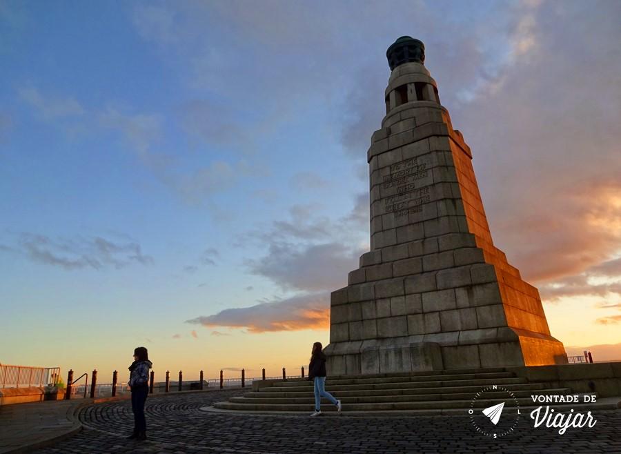 Dundee Escocia - Por do sol em Dundee Law