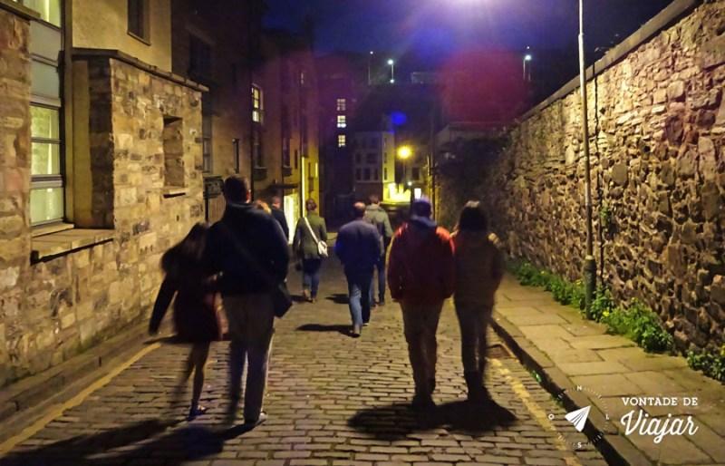 Edimburgo Old Town - Historias de fantasmas no Dark Side Tour a noite