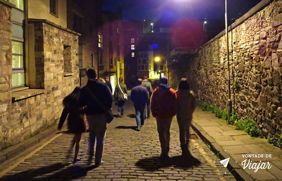 Edimburgo Old Town - Historias de fantasmas no Dark Side Tour a noite
