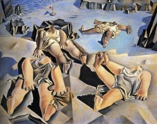 Salvador Dali - Figures Lying on the Sand