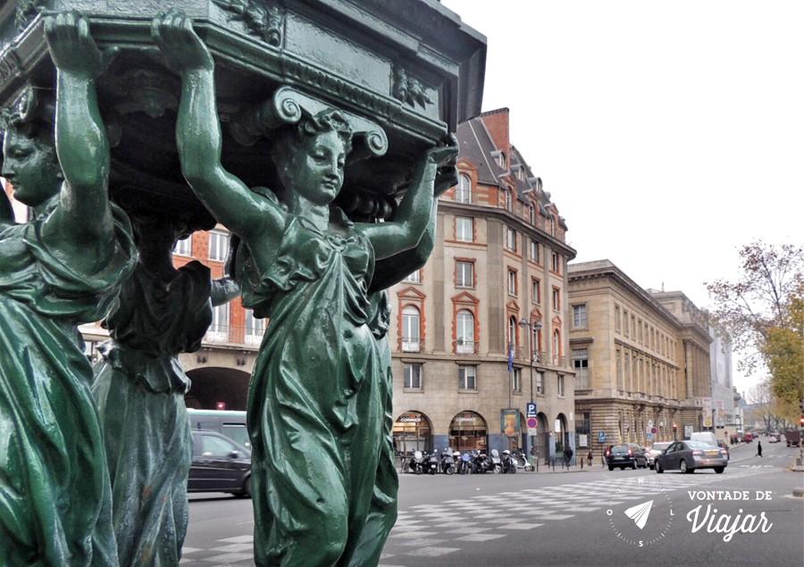 Fontes Wallace em Paris - Fontes verdes de Paris