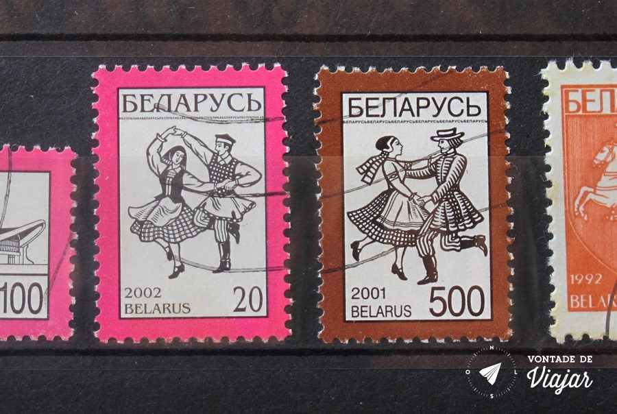 Colecao de selos - Dancas da Bielorrusia