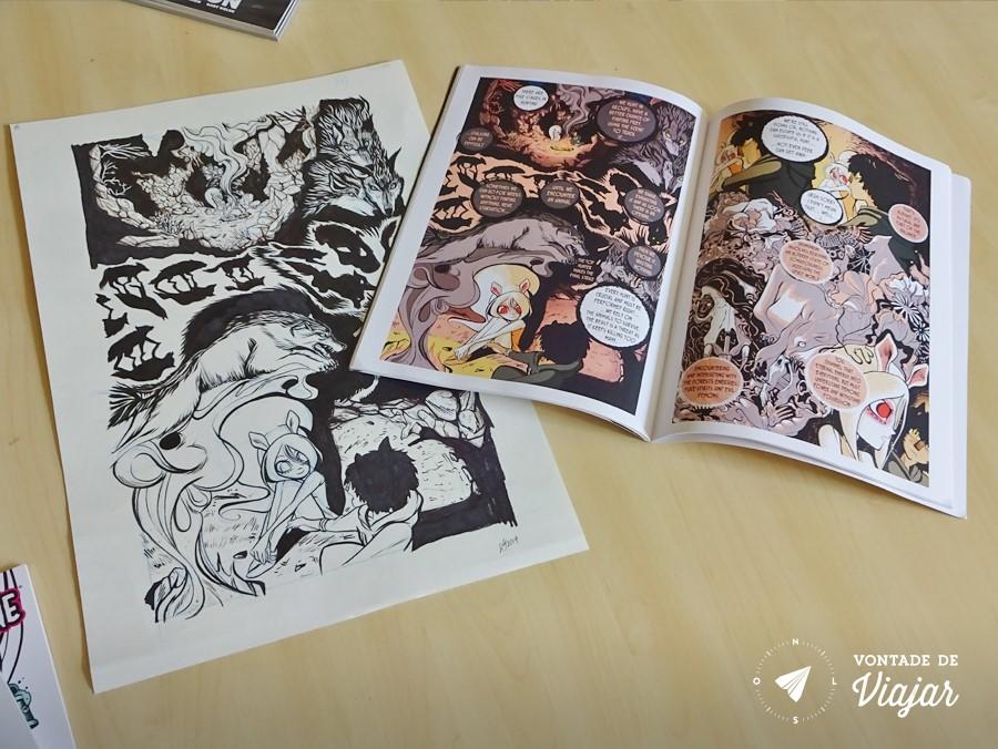 Dundee Design - Quadrinhos da artista Rossi Gifford - Comic Arts Dundee University