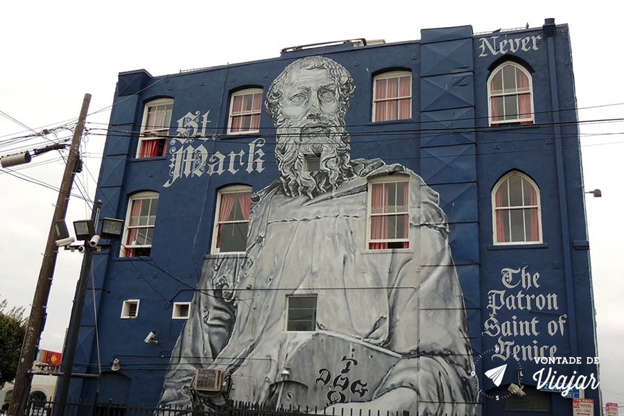 Los Angeles street art - Mural Sao Marcos em Venice Beach