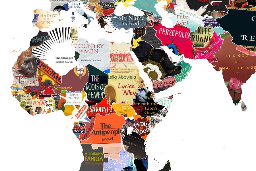Mapa Mundi Literario - Livros da Africa