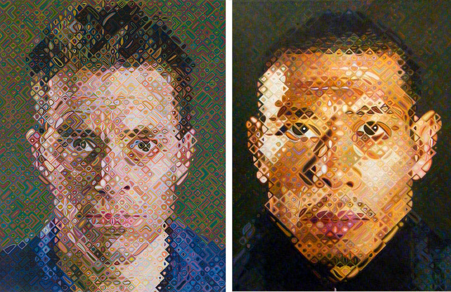 Galerias de arte em Nova York - Pace Gallery - Chuck Close - James e Zhang Huan