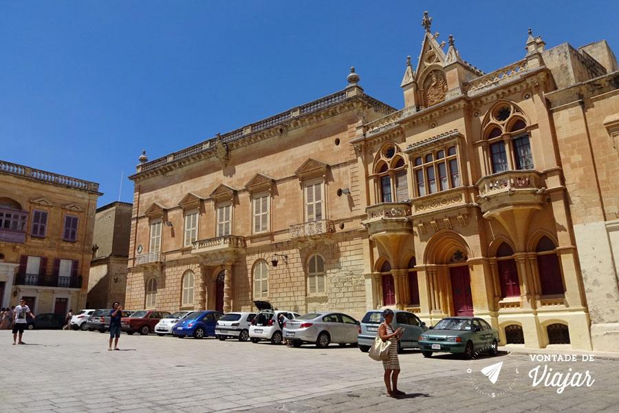 Mdina de Malta - Praca Sao Paulo Pjazza San Pawl