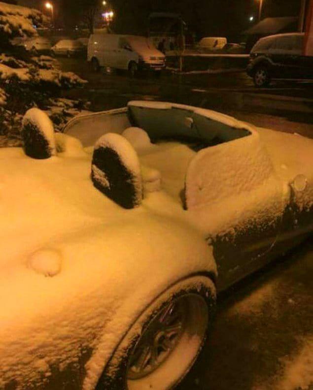 Первый снежок всегда радостное событие